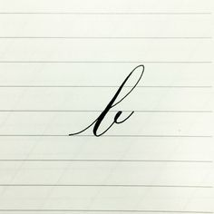 1/4/15 | DAY 2: B  ABOUT THIS B:  The copperplate lowercase B is drawn in 3 strokes: 1. Entrance 2. Stem Loop 3. Underturn (eyelet)