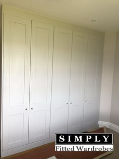 Our team of highly skilled craftsmen recently installed these stunning fitted Wardrobes in Essex. The client decided to go with a traditional shaker style chosen from our Rockingham range. Traditional Fitted Wardrobes, Fitted Wardrobe Doors, Fitted Bedrooms, Shaker Style, Craftsman, House Ideas, Loft, Range, London