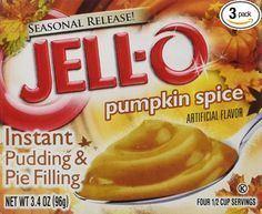 Shop Fall-Flavored Things You Need to Get Your Hands On: Kraft Jell-O Instant Pudding & Pie Filling, Pumpkin, Pack of 3 for $6