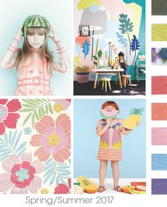 #DesignOptions SS17 color report on #WeConnectFashion, Children's Girls mood details: Hot Tropics.