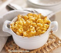Skinny Mac & Cheese |Only 170 calories | Comfort food lightened up! | For MORE RECIPES, Fitness & Nutrition Tips please SIGN UP for our FREE NEWSLETTER www.NutritionTwins.com