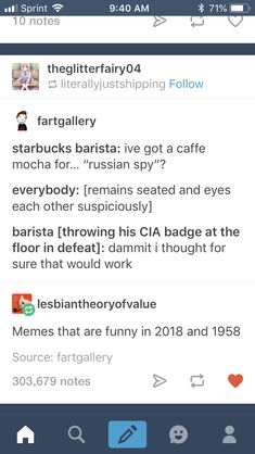 I don't know why but I read that as Barbie Barista and was imagining Barbie savagely trying to out a Russian spy 😹😹