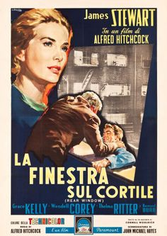 "Movie Posters:Hitchcock, Rear Window (Paramount, 1954). Italian 4 - Foglio (55"" X 79.5)....."