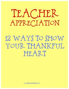 cute teacher appreciation ideas