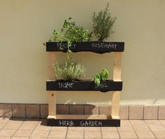 Free plans to make a pallet herb