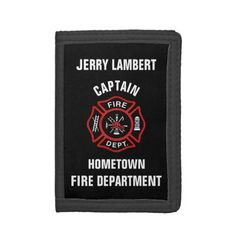 Custom Firefighter Name Template Trifold Wallet fallen firefighter, firefighter christmas quotes, girl firefighter #fireservice #firegirlfriend #likebunkergear, back to school, aesthetic wallpaper, y2k fashion Firefighter Baby, Firefighter Birthday, Firefighter Wedding, Firefighter Shirts, Firefighter Quotes, School Readiness, Credit Card Wallet, Birthday Invitations, Templates