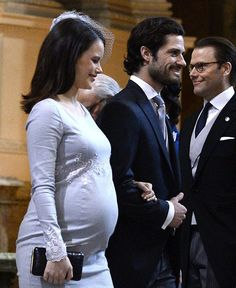 During Princess Sofia's pregnancy and Prince Carl Philip of Sweden