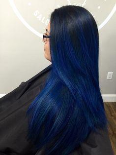 Vivid Hair Color, Hair Dye Colors, Hair Color For Black Hair, Cool Hair Color, Blue Purple Hair, Royal Blue Hair, Dark Blue Hair Dye, Ocean Hair, Best Hair Dye