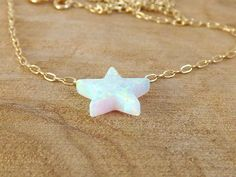 Hey, I found this really awesome Etsy listing at https://www.etsy.com/listing/207951392/star-necklace-opal-star-necklace-white