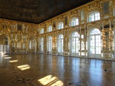 Inside Catherine's Sumer Palace in Pushkin, Russia