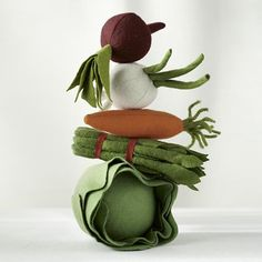 The Land of Nod | Kids' Kitchen & Grocery: Kids Pretend Felt Food Vegetables in Kitchen & Grocery