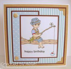 Handmade Cards, Fishing, Children, Frame, Sweet, Summer, Design, Products, Art