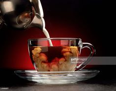 Stock Photo : Cream Pour into Coffee Cup