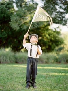 """Forget """"here comes the bride"""" signs. Do a gaggle of """"flag bearers"""" instead."""