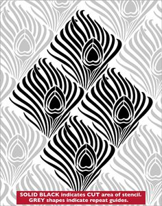 Beardsley stencil from The Stencil Library online catalogue. Buy stencils online. Stencil code VN66.