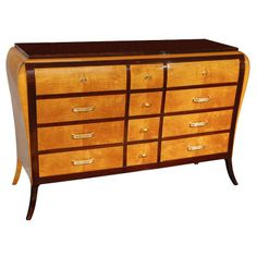 Two tone Palisander Sideboard from France 1940's. Great Design! @ Anne Hauck Art Deco