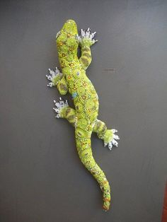 Beaded Lizard Brooch