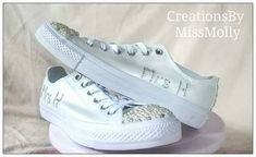 Excited to share the latest addition to my #etsy shop: Rhinestone / gem converse/ bridal converse/ wedding converse http://etsy.me/2CLZQEJ