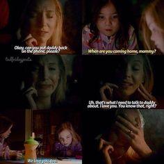 """Caroline:""""Va bene. Mi passate di nuovo papà,per favore?"""" Josie:""""Quando torni a casa,mammina?"""" Caroline:""""Io e papà dobbiamo parlare proprio di questo. Vi voglio bene.Lo sapete..vero?"""" Lizzie:""""Ti vogliamo bene anche noi."""" #7x21"""