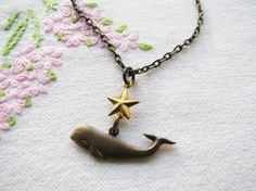 $16 nautical whale necklace