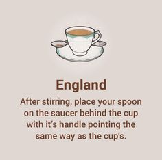 England has its very own and unique style of drinking tea.