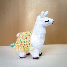 Lovely Lola the Llama - free crochet pattern at Handcrafting a Life
