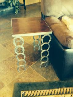 Horseshoe end table