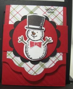 Snow Place Gift Card Holder, Christmas gift card, Stampin' Up! products, Lots of Labels Framelits,