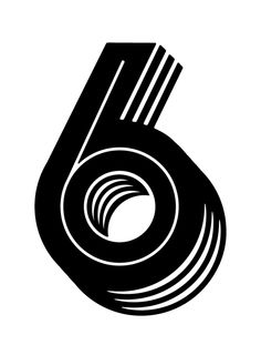 6 by David Sanden - number typography Typography Letters, Graphic Design Typography, Graphic Design Illustration, Number Typography, Art Mots, Monospace, Types Of Lettering, Typography Inspiration, Design Inspiration