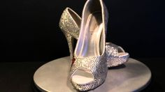 The Red Rose luxury Crystal Peep Toe pumps