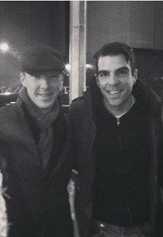 Zachary Quinto and Benedict Cumberbatch.
