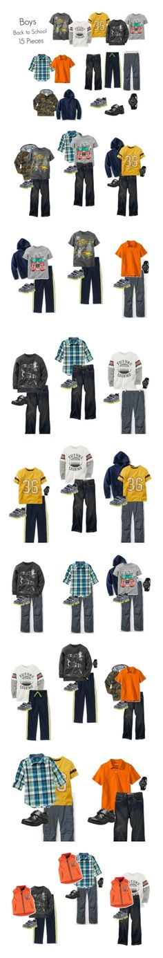 Boys Back to School 2015 Capsule - 15 pieces, 20+ outfits