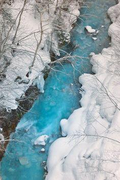 The Blue River, Biei, Hokkaido, Japan http://wego.wzwego.com/en/hotels/japan/hokkaido-14761/2015-06-27/2015-06-28/1-rooms/2-guests/33356514