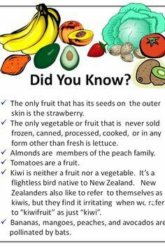 Fun food facts did you know facts, healthy tips, healthy facts, healthy Snacks For Work, Healthy Work Snacks, Healthy Recipes, Health Snacks, Healthy Tips, Healthy Facts, Eating Healthy, Healthy Choices, Fruit Facts