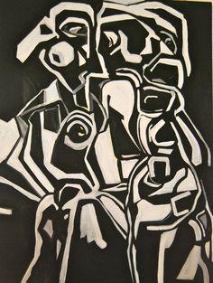 Saatchi Online Artist: iola Scott; Acrylic, Painting two girls