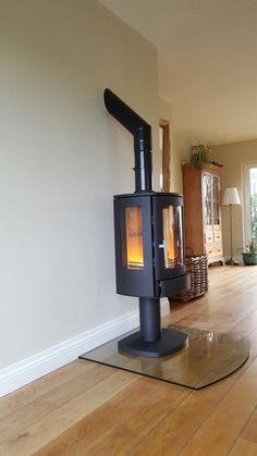 Freestanding ACR Wood Burning Logs, Open Plan Kitchen Living Room, Freestanding Fireplace, Freestanding Stove, Faux Fireplace, Front Rooms, Living Room Panelling, Fireplace, Art Deco Fireplace