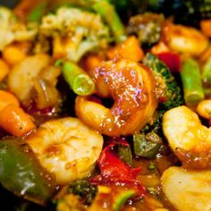 shrimp   Rice Recipes for Dinner | Szechuan Shrimp Stir Fry with Fried Rice (Gluten-Free) Recipe | Just A ...