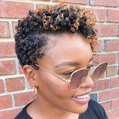 Natural Hair Short Cuts, Short Natural Haircuts, Tapered Natural Hair, Natural Hair Styles For Black Women, Short Curly Hair, Short Hair Cuts, Curly Hair Styles, Pixie Styles, Pixie Cuts