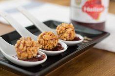 Aperitivo de Navidad: Bombones crujientes de foie con mermelada de fresa y miel... o tu mermelada favorita