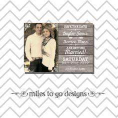 Vday+Sale++DIY+Printable+Wedding+Save+the+Date+by+MintCloudLLC,+$15.00