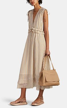 Dress Outfits, Fashion Dresses, Summer Outfits, Summer Dresses, Cotton Dresses, Striped Dress, Nice Dresses, Textiles, Street Style