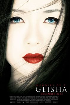 Memoirs of a Geisha..one of my favorites...especially the part where she learns to make a man stop in his tracks or stumble...with just one look. although overall a sad story...I LOVE IT!!