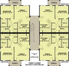 3 story 12 unit apartment building 83117dc exclusive for 4 unit apartment building plans pdf