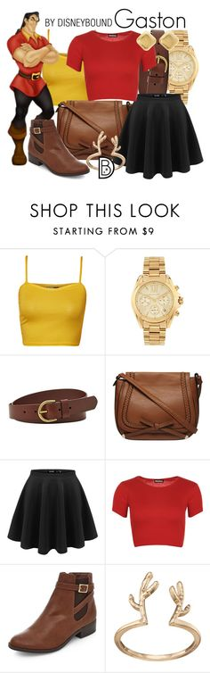 """""""Gaston"""" by leslieakay ❤ liked on Polyvore featuring WearAll, Michael Kors, FOSSIL, Dorothy Perkins, LC Lauren Conrad, Charlotte Russe, women's clothing, women, female and woman"""