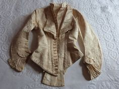 #1 Front view...  Antique French Silk brocade1800's w/bone stays from France