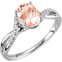 Morganite & Diamond Ring | J.D. Jewelers | Midland & Gladwin, Mi #morganite