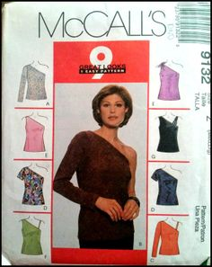 McCall's 9132  Misses' Top for Stretch Knits by ThePatternShopp, $10.00