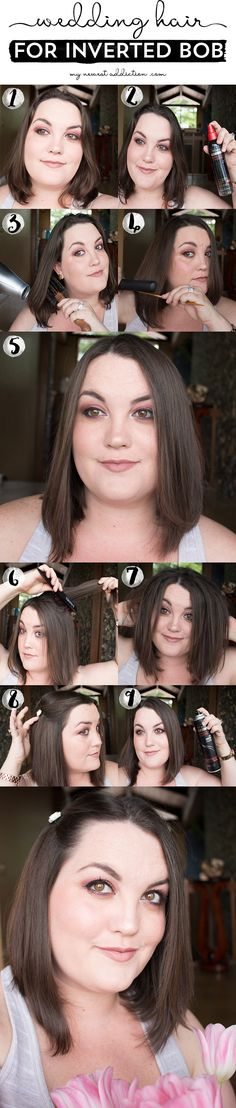 Wedding Hair For Inverted Bob ft @tresemme #ad #tresemme