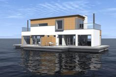 Floating Houses - I kind of like this house - except it's too close to the fishes.