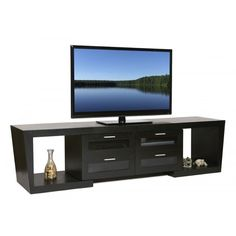online shopping for Plateau Valencia 5187 B Wood Expandable TV Stand, Black Oak Finish from top store. See new offer for Plateau Valencia 5187 B Wood Expandable TV Stand, Black Oak Finish Unique Tv Stands, Cool Tv Stands, Floating Entertainment Center, Entertainment Room, Flat Screen Tv Stand, Buy Tv Stand, Tv Stand Decor, Tv Stand With Mount, Hidden Tv